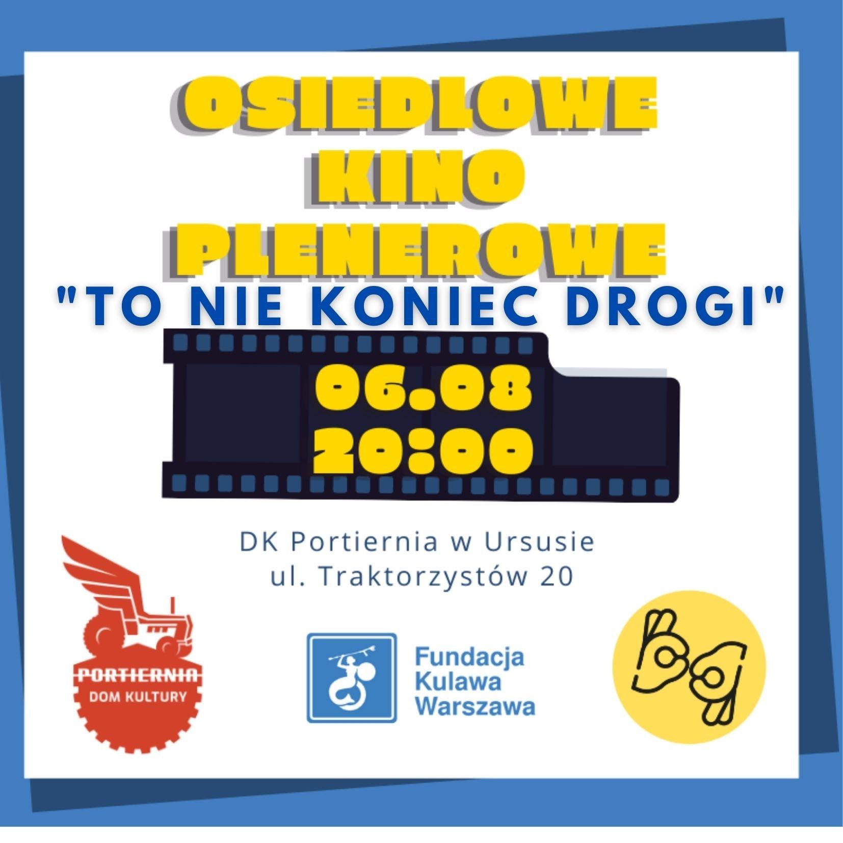 Plakat reklamujący Osiedlowo Kino Plenerowe.
